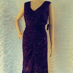 Marina Lace Sequined Gown